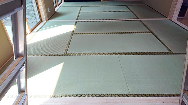 甑島の畳工事
