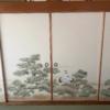 4枚柄襖紙の襖工事をさせていただきました。